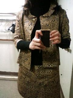 Suit made of Grandmother's kimono