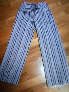 Pants made of kimono