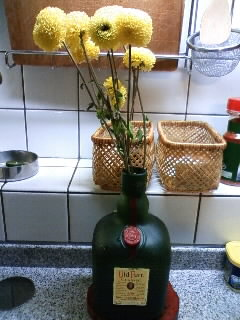 Flower likes whisky in my house!