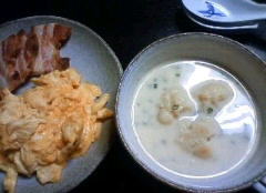 Milky miso soup