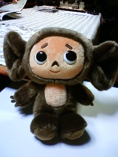 Cheburashka came my home!