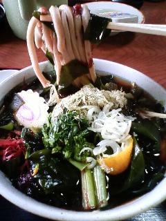 seaweed soba noodle