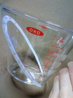 a measuring cup