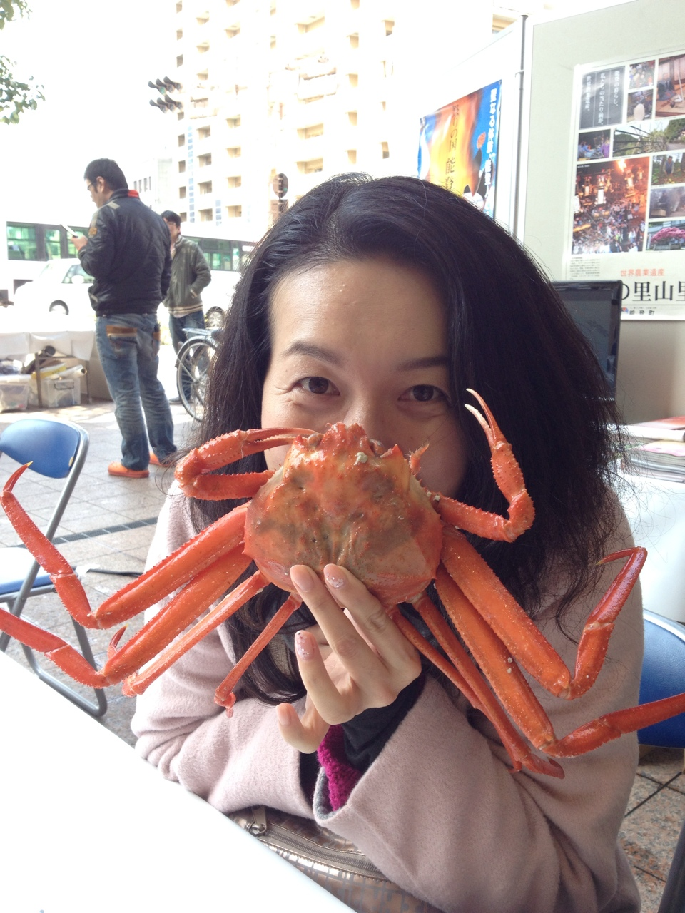 with crab